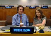 Dr Phil Williamson and Dr Carol Turley at the UN General Assembly